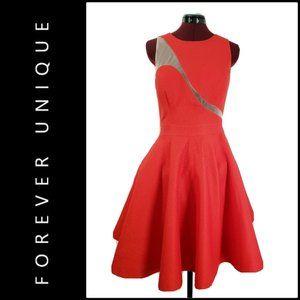 Forever Unique London Women Fit & Flare Dress Mesh